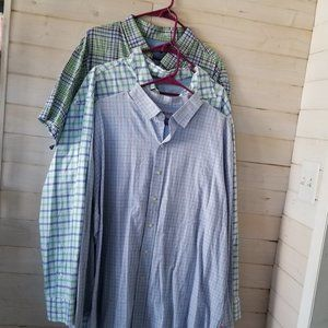 IZOD flannel button up shirt bundle